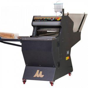 Broodsnijmachine met bandaanvoer
